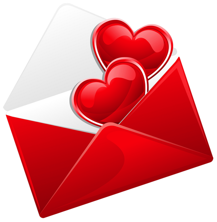 Love letter png. Transparent red with hearts
