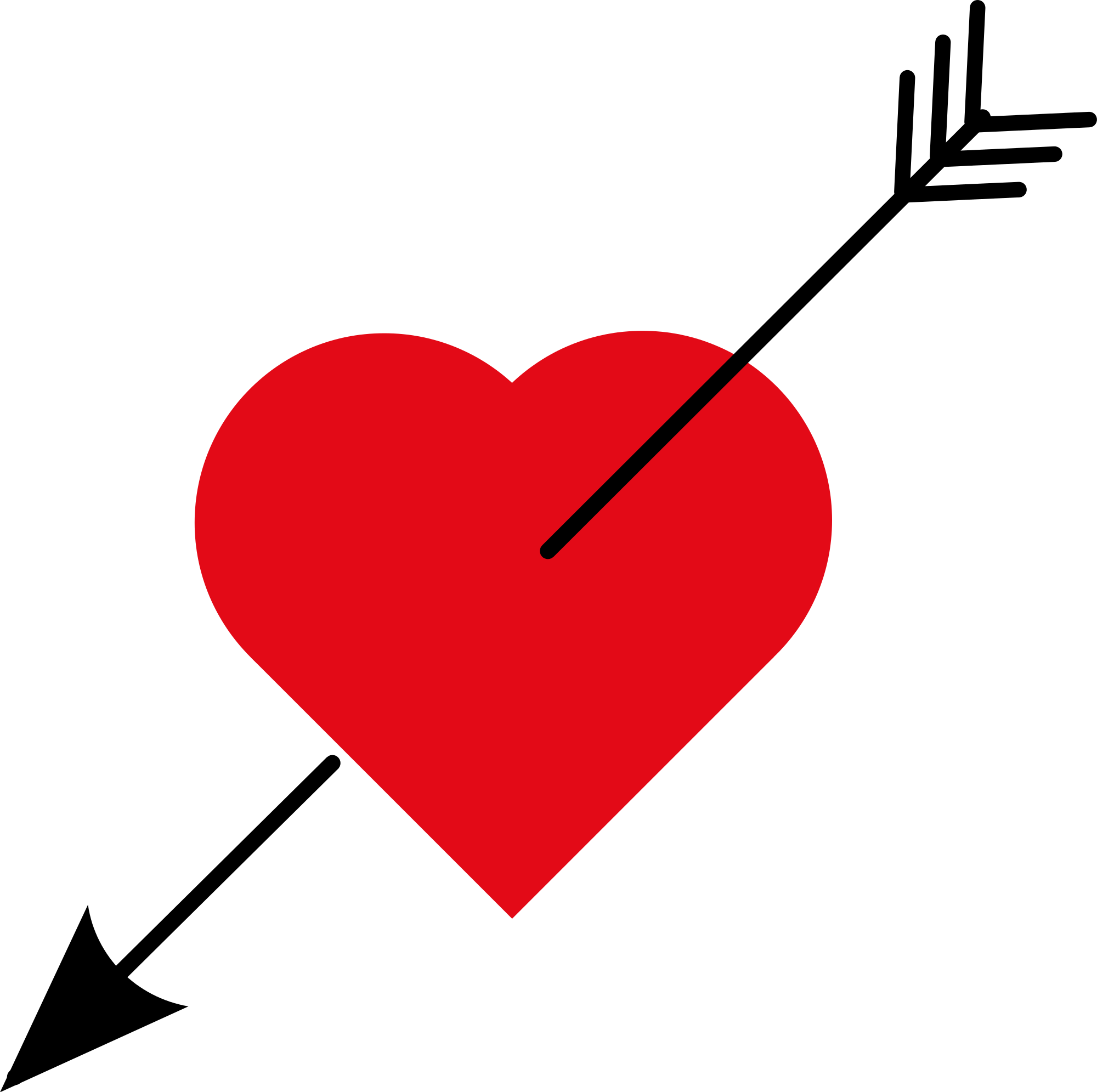 Love png file. Heart with arrow svg