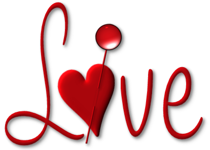 Love png file. Red with heart picture