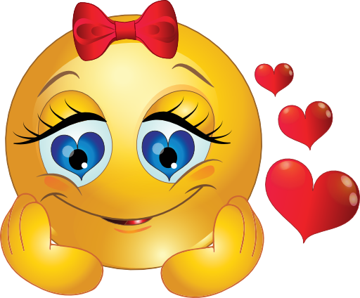 Love smiley png. Girl in symbols emoticons