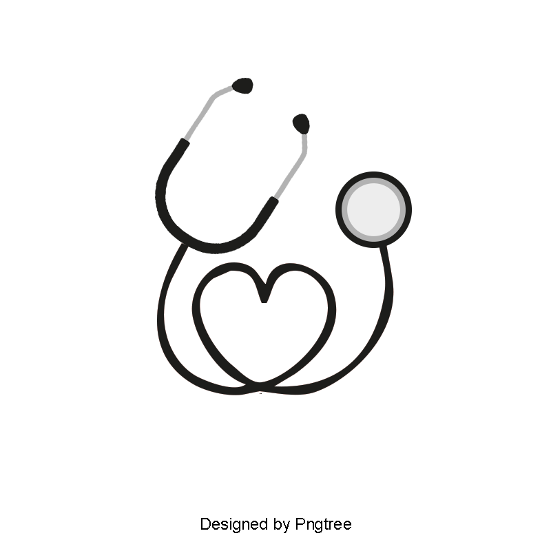 Transparent stethoscope uses. Love vector png and
