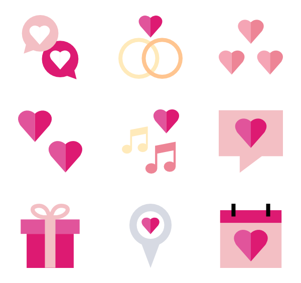Love vector png. Married icon packs