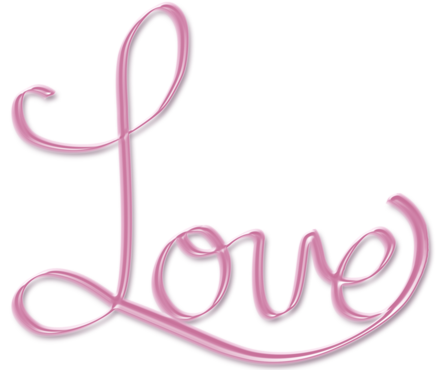 Words transparent love. Png clipart free icons