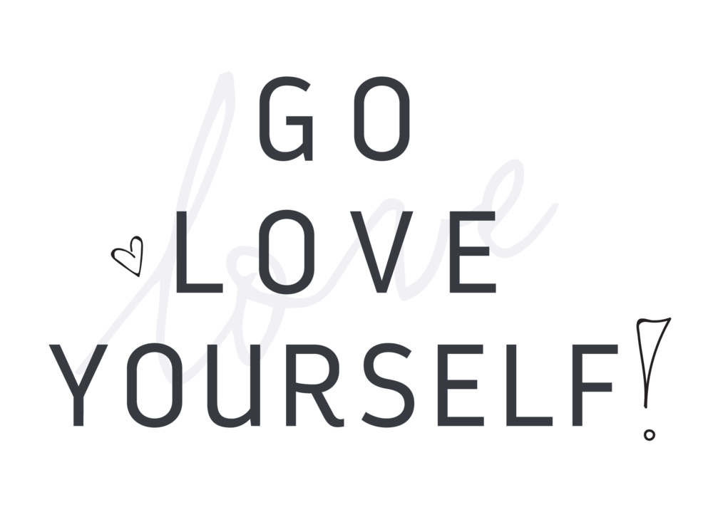 Go subscription box branding. Love yourself png vector royalty free stock