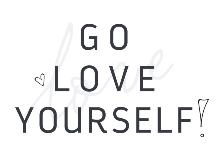 Love yourself png. Go subscription box branding