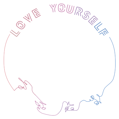 Tear support campaign twibbon. Love yourself png vector download