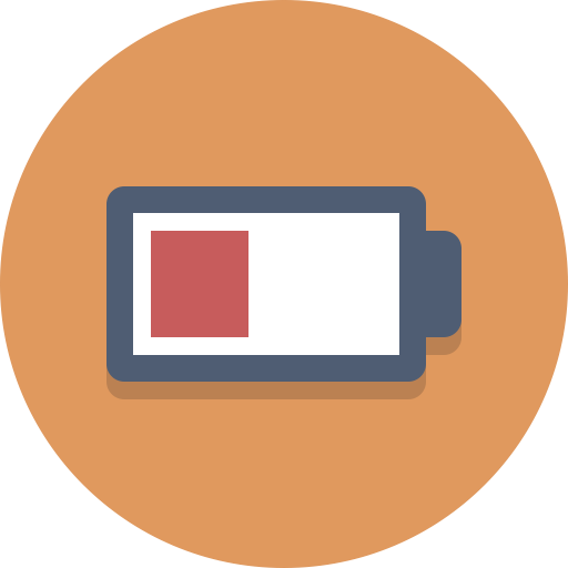 Low battery icon png.