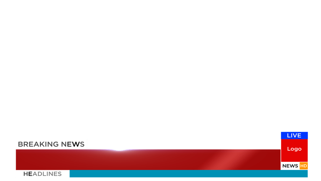 News template png. Free breaking animation after