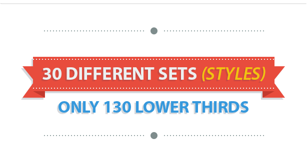 Lower third png files. Corporate thirds package by