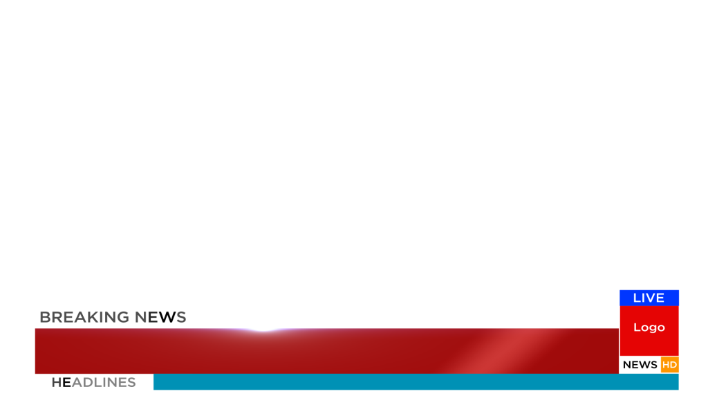 News transparent lower third. Free breaking animation after