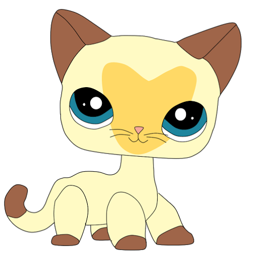 Lps short hair cats png art. Claire kitty tv office