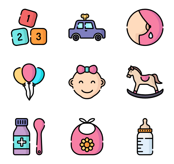 Lsl vector mode. Pacifier icons free baby