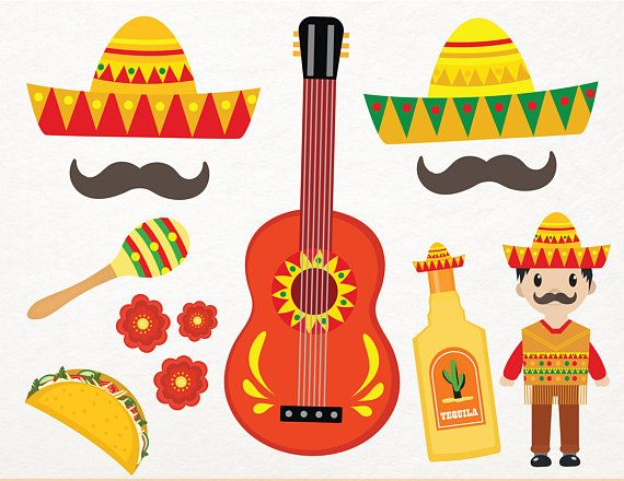 Luau clipart guitar mexican. Best cinco de