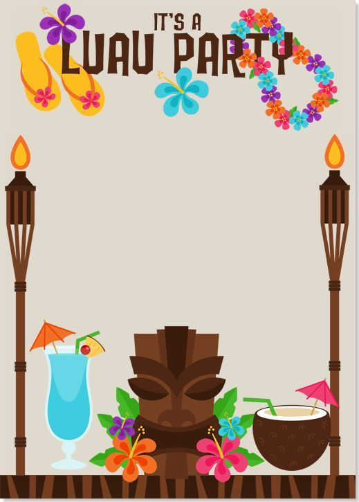 Luau clipart luau invitation. Image result for invitations