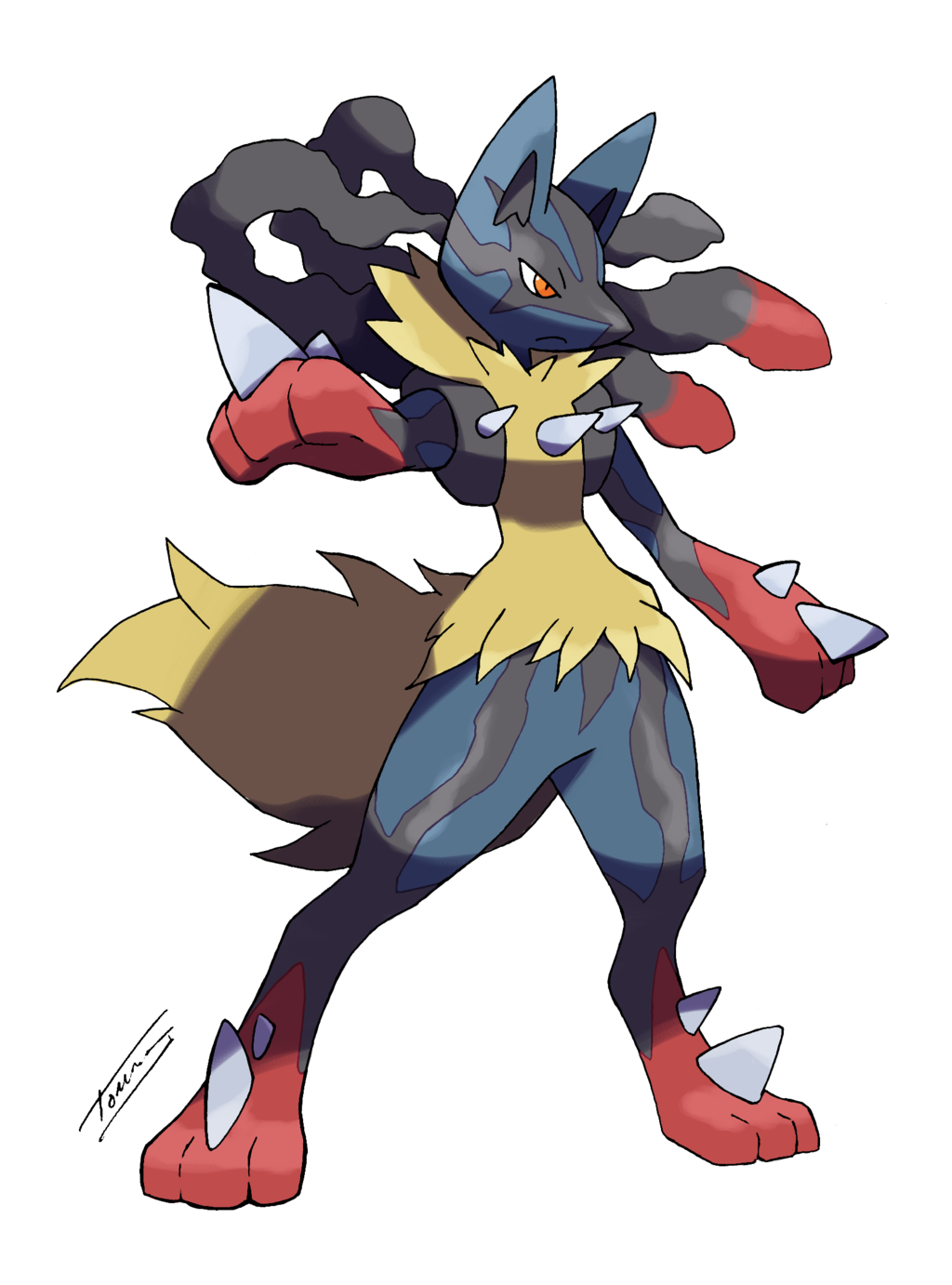 Drawings of lucario png. Mega form by tomycase