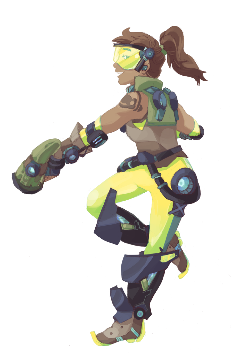 Lucio drawing overwatch character. Tracer and l cio