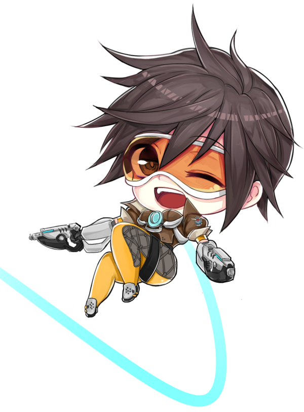 Winston transparent chibi. Image tracer png overwatch