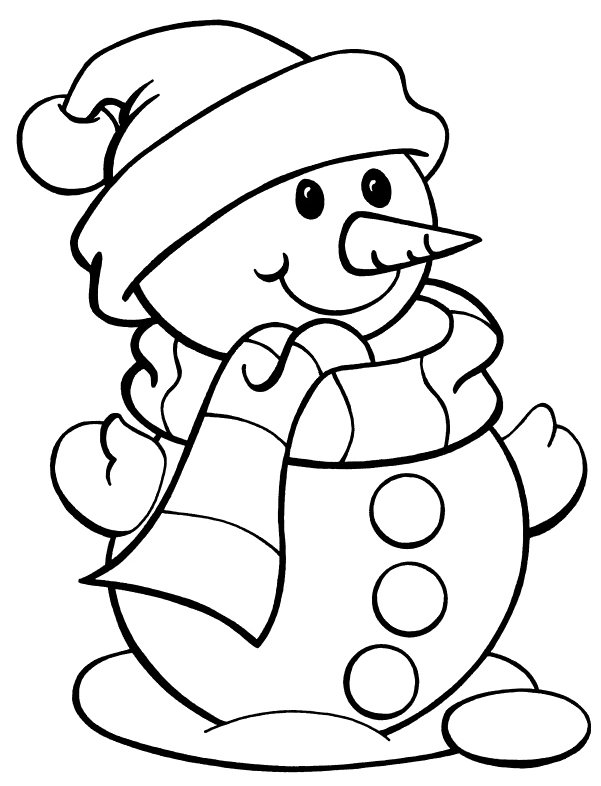 Lucio drawing coloring page. I have download snowman