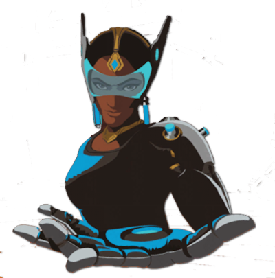 Lucio drawing symmetra. Image spray behold png