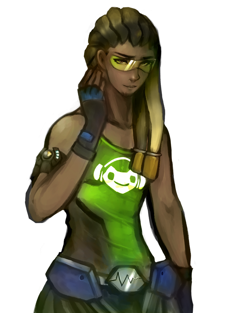 Lucio drawing overwatch character. With his hair down