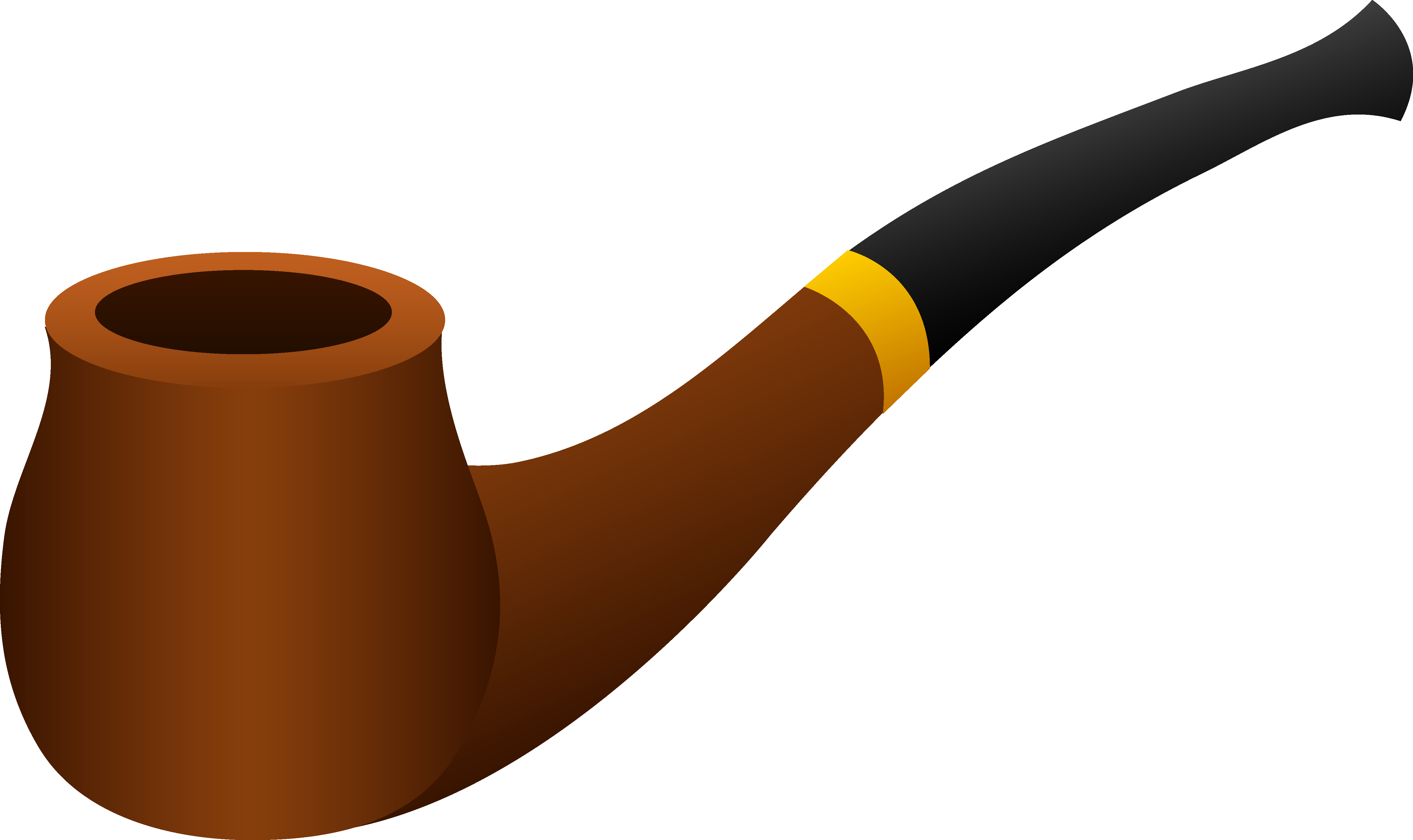 Transparent pipes tobacco. Terrific pipe clipart design