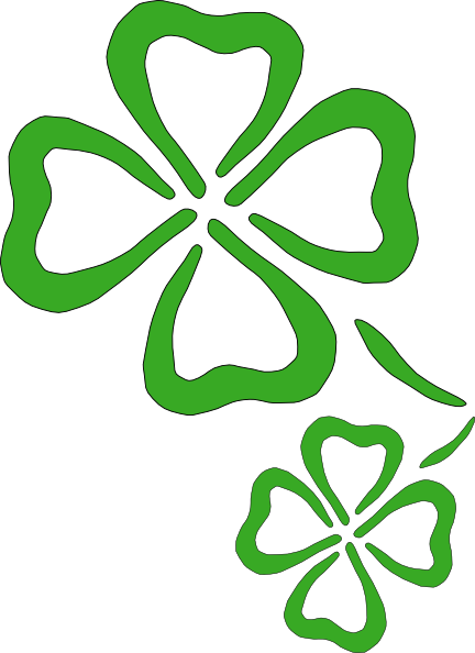 Luck clipart two. Four leaf clover