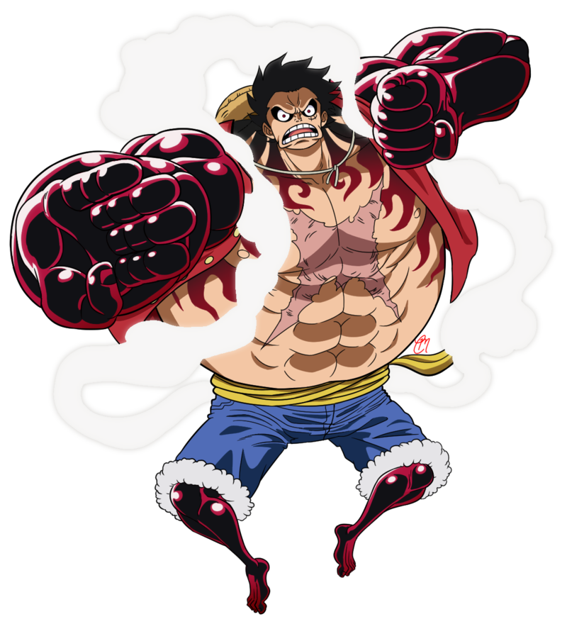 Drawing gear piece. Fourth luffy updated by