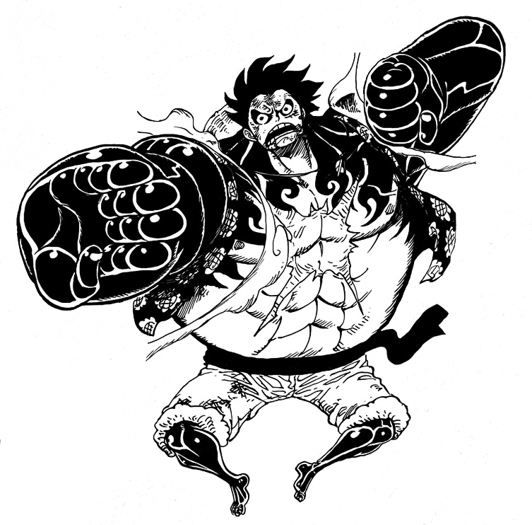 Luffy gear 4 png. Manga render by superman