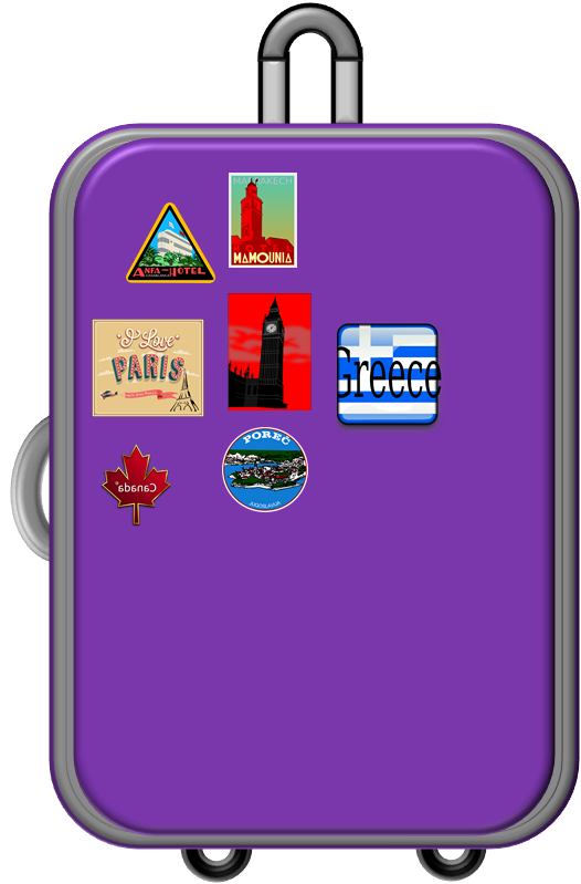 Suitcase clipart suitcase handle. Luggage png library