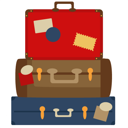 Suitcase clipart suitcase handle. Stacked luggage png transparent