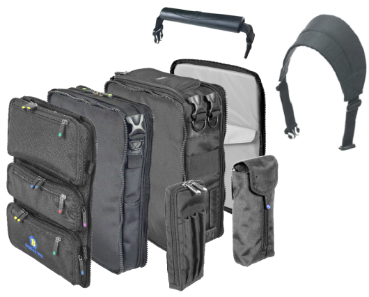 Luggage vector sling bag. Modular gear system by