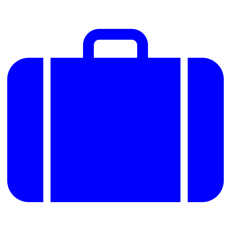 Luggage clip svg. File suitcase icon blue