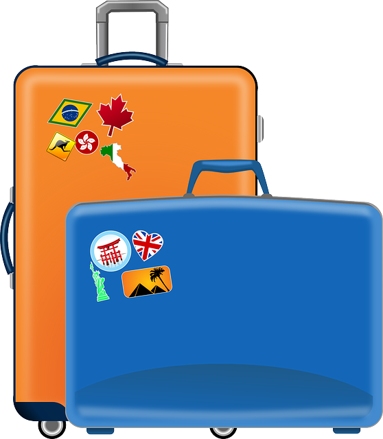 Luggage clip vintage suitcase. Png library old