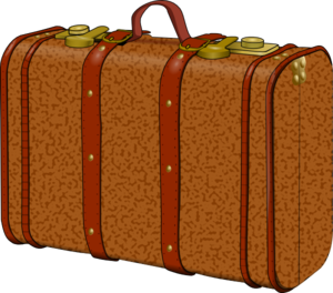 Luggage clip vintage suitcase. Free cliparts download art