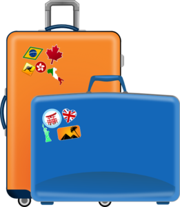 Luggage vector. Clip art at clker