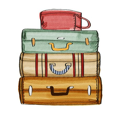 Luggage clipart drawn. Best art images