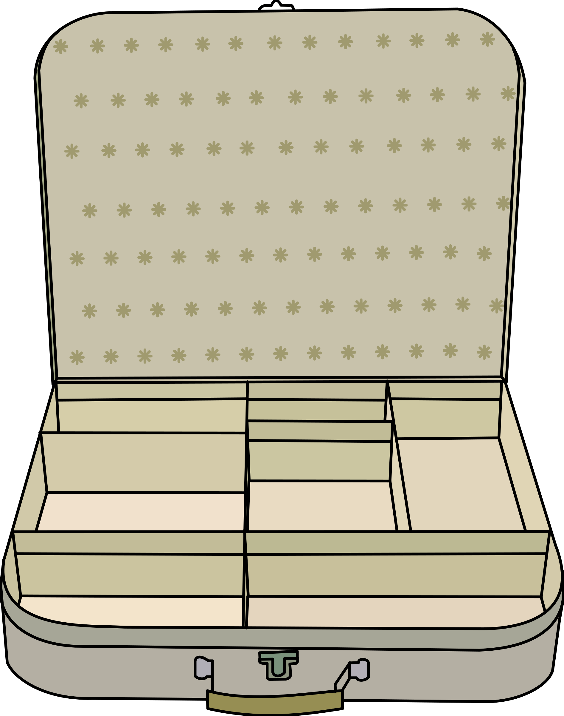 Luggage clipart messy. Open suitcase drawing at