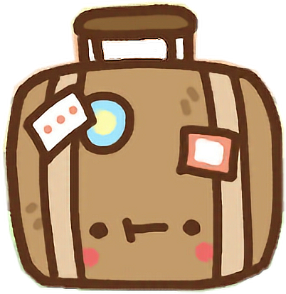 Luggage clipart messy. Png library kawaii