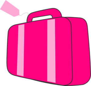 Luggage vector pink bag