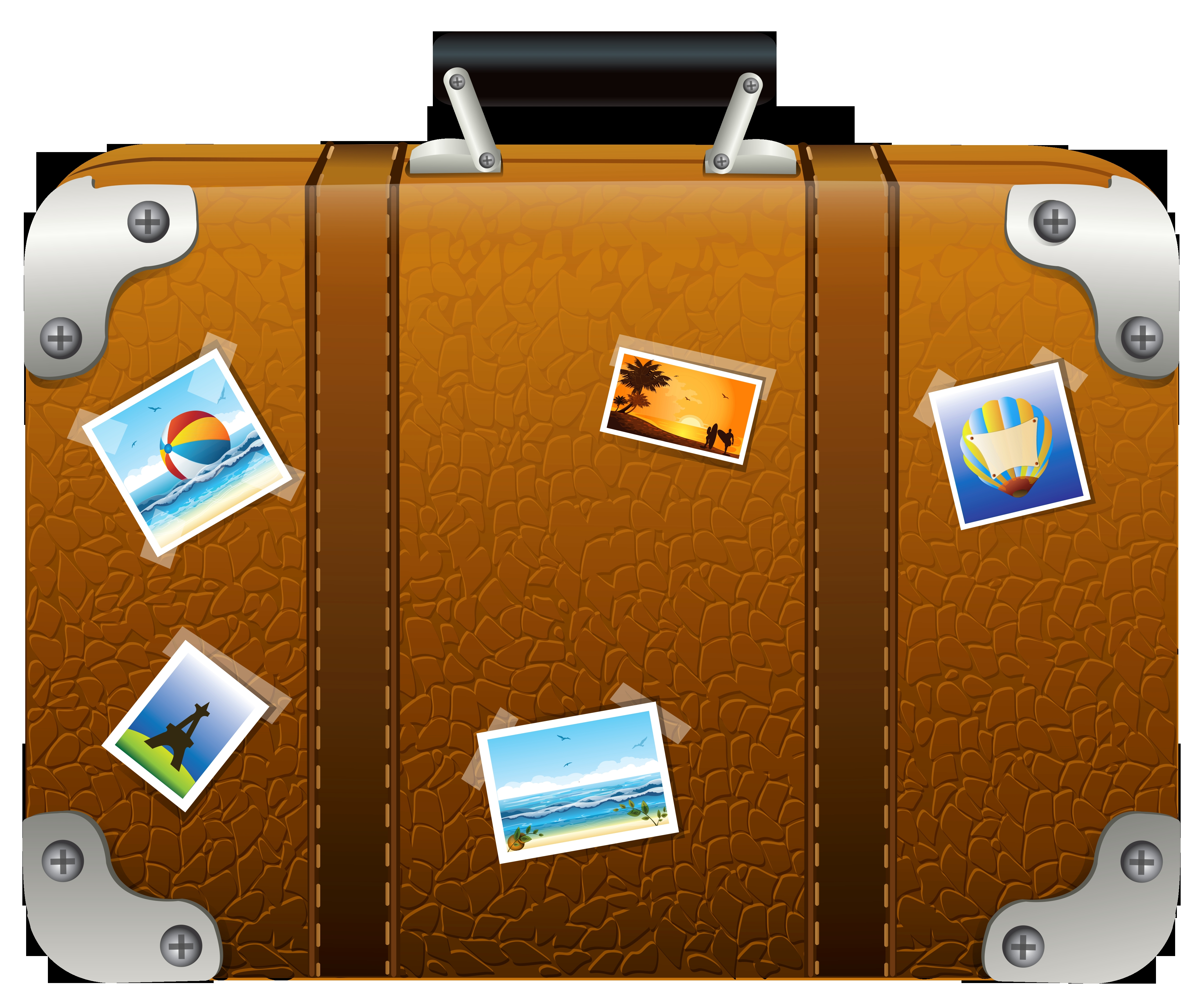 Suitcase clipart. New luggage collection digital banner free