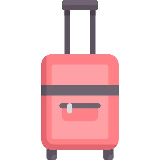 Luggage vector bag tag design. Suitcase free icons designed