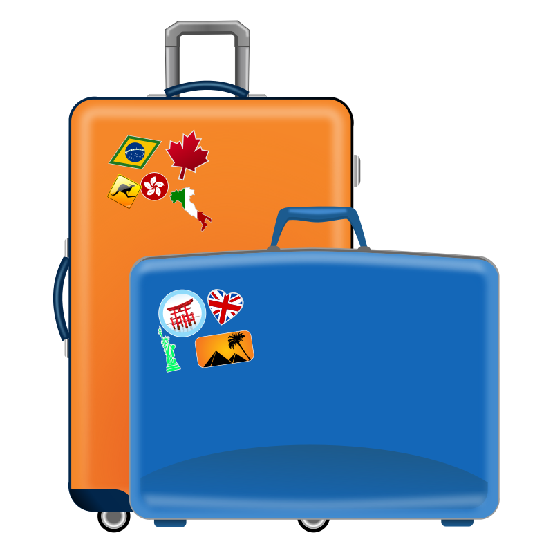 Luggage vector. Free icon download clip