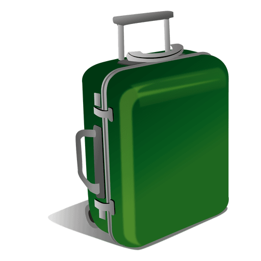 Luggage vector. Green transparent png svg