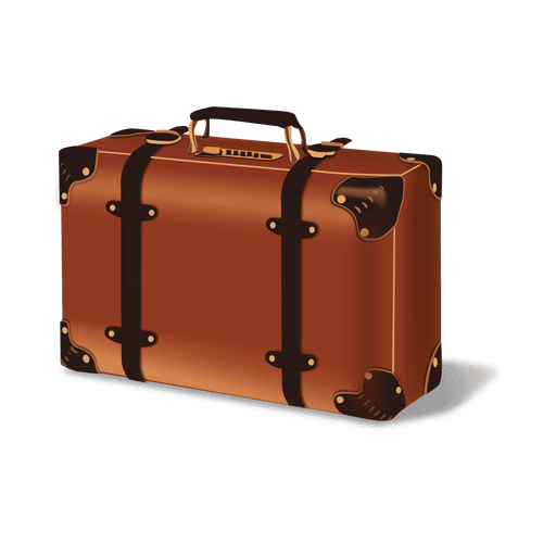 Luggage vector. Glossy transparent png svg
