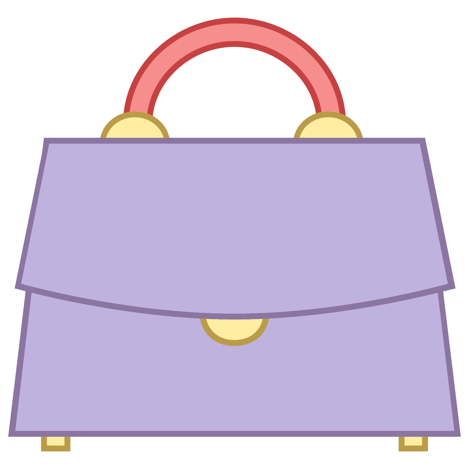 Clip bag handle. Png icon there