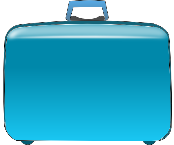 Luggage vector blue. Suitcase clip art at