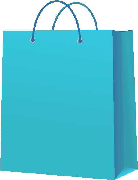 Luggage vector blue. Paper bag light icon