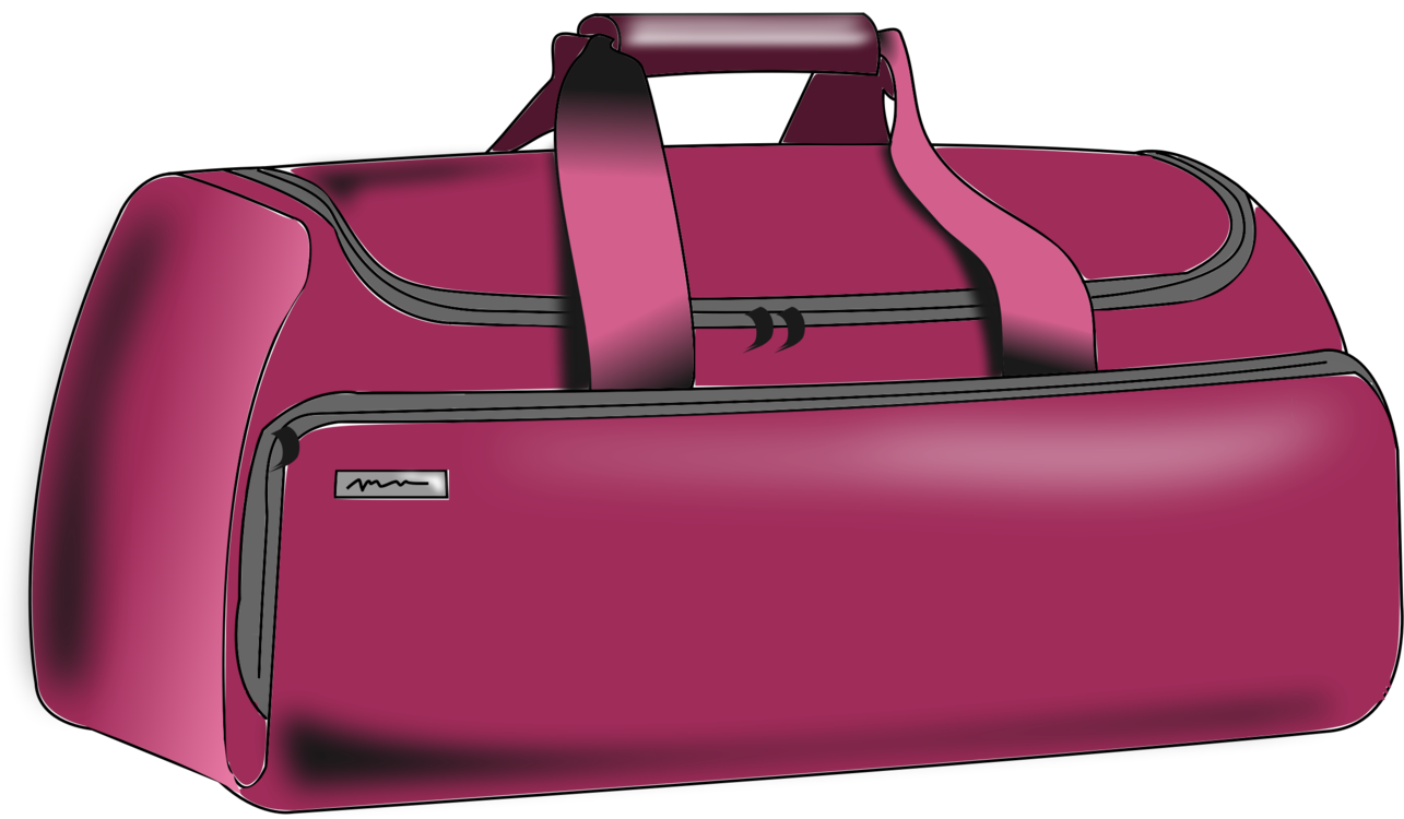 Luggage vector pink bag. Duffel bags baggage handbag