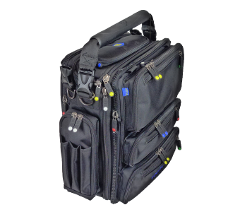 Luggage vector tourist bag. Modular gear system by