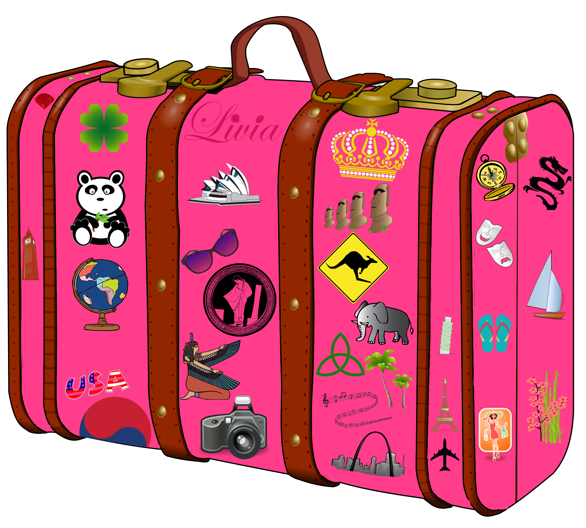 Luggage vector vintage airline. Png library travel